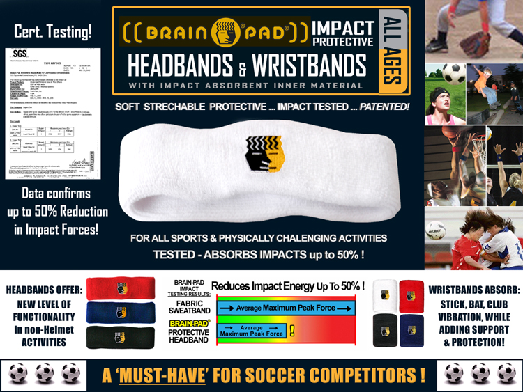 Impact padded head wrist bands